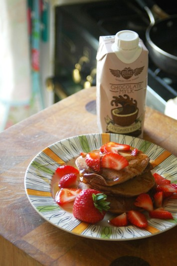 Chocolate Mylk Pancakes