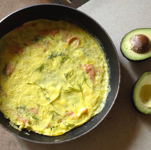 Smoked Salmon and Avocado Omelette