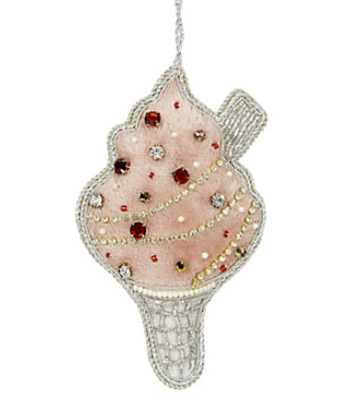 Embellished Ice Cream Christmas Decoration