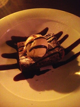 Chocolate Brownie at Al Campo Lounge Brighton
