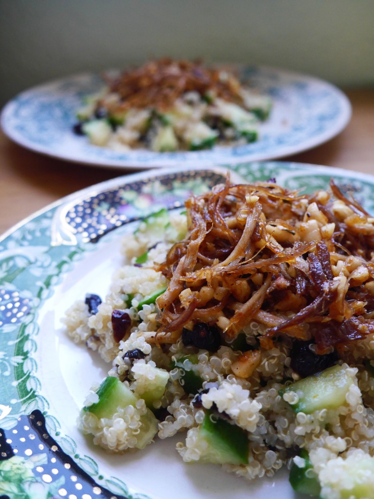 Shredded Brown Turkey with Fragrant Quinoa