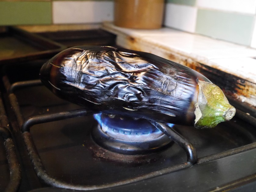 Cooking an Aubergine on the hob