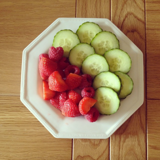 Cucumber and berries