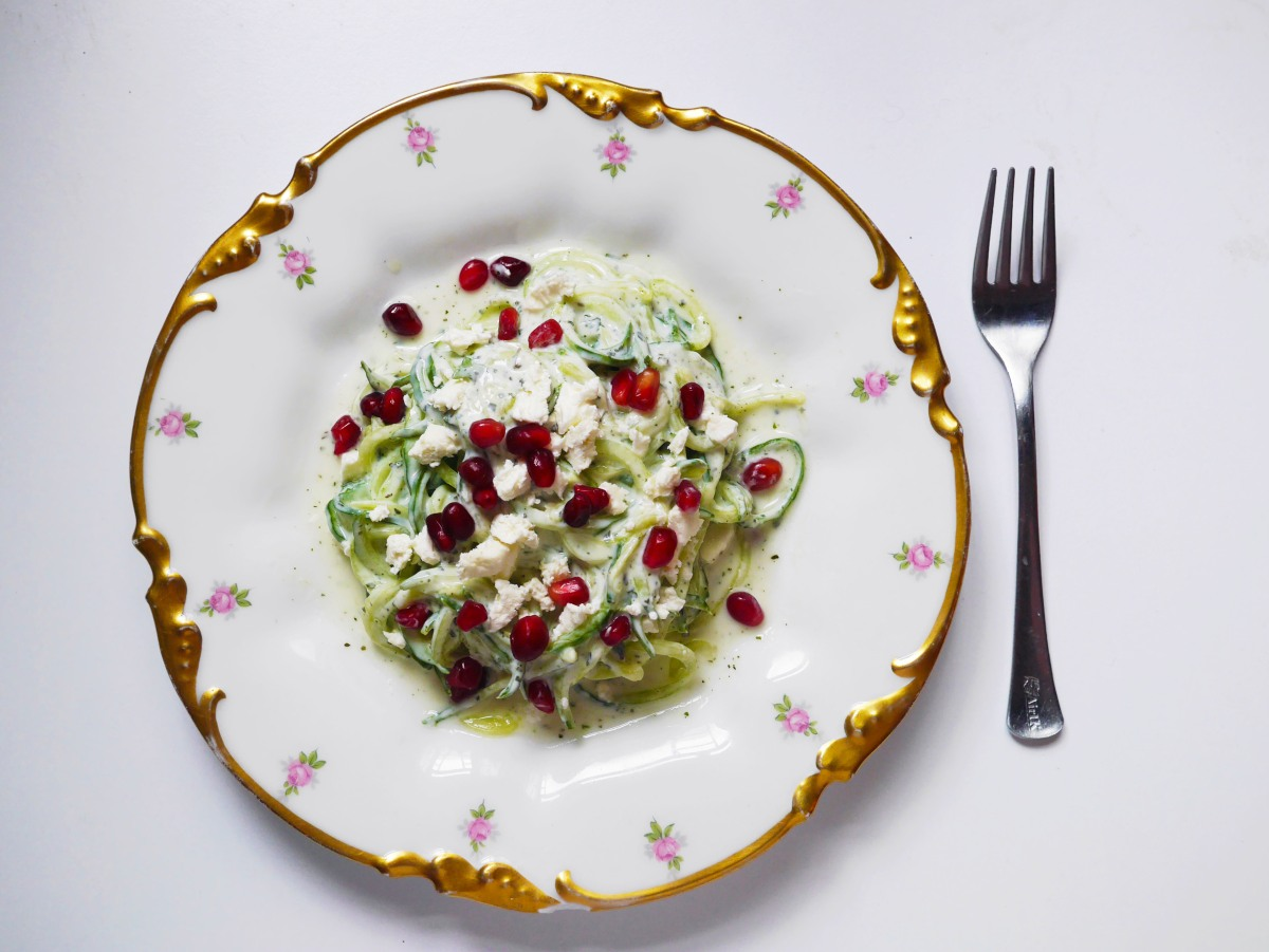 Spiralised Cucumber Salad | Cate in the Kitchen
