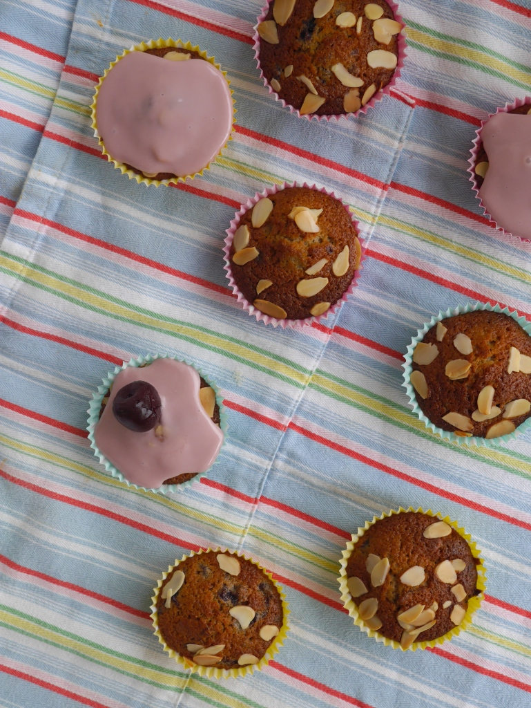 Cherry Bakewell Fairycakes | Cate in the Kitchen
