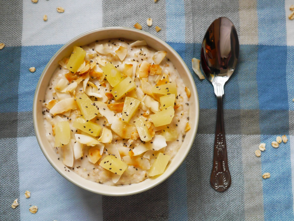 The Perfect Porridge | Coconut and Pineapple | Cate in the Kitchen