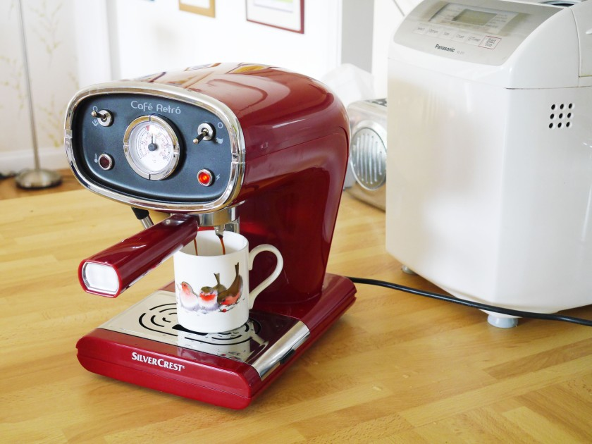Lidl Espresso Machine Cate in the Kitchen