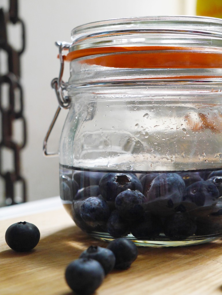 Gin Infused Blueberries