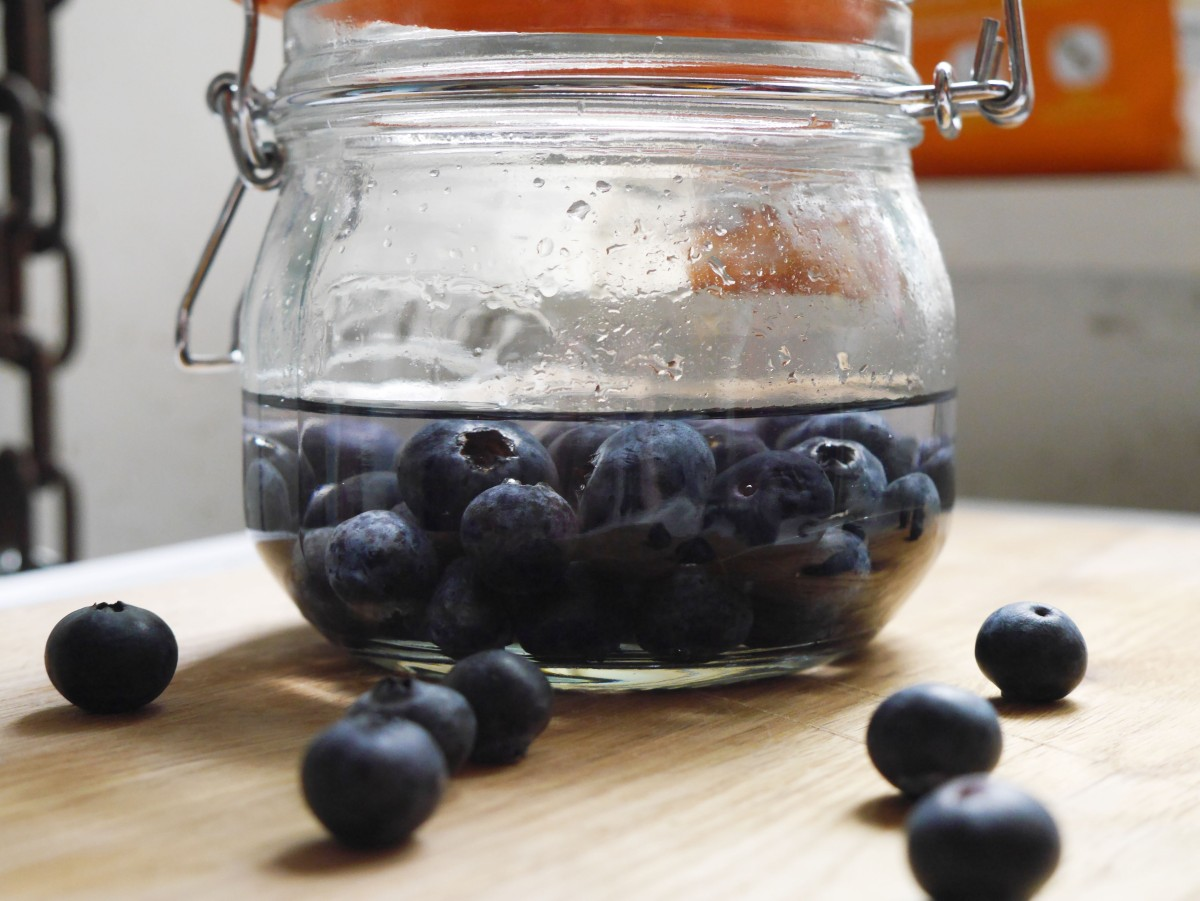 Gin Infused Blueberries | Cate in the Kitchen