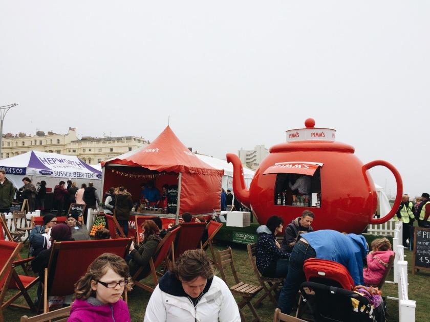 Pimms tent Brighton Foodies Festival