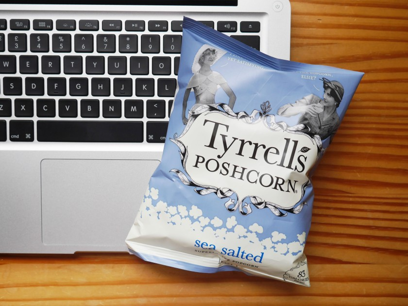 Tyrrell's Salted Poshcorn Review Cate in the Kitchen