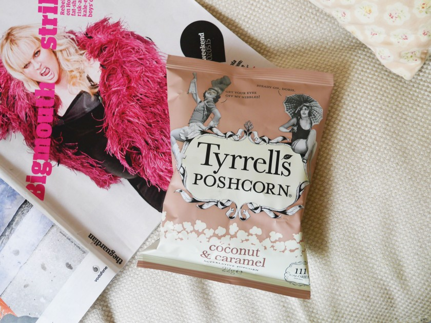 Tyrrell's Poshcorn Coconut and Caramel Review Cate in the Kitchen