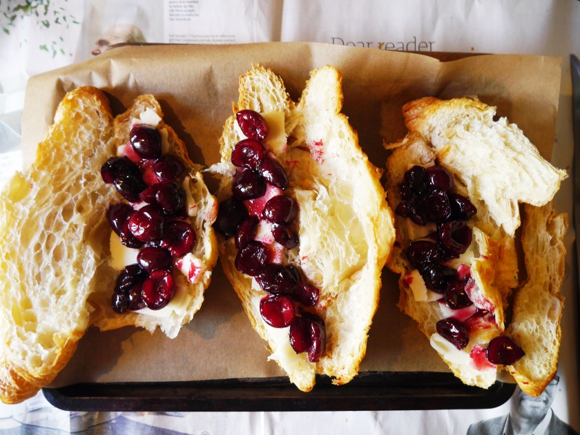 Cherry and Almond Croissants Easy Recipe