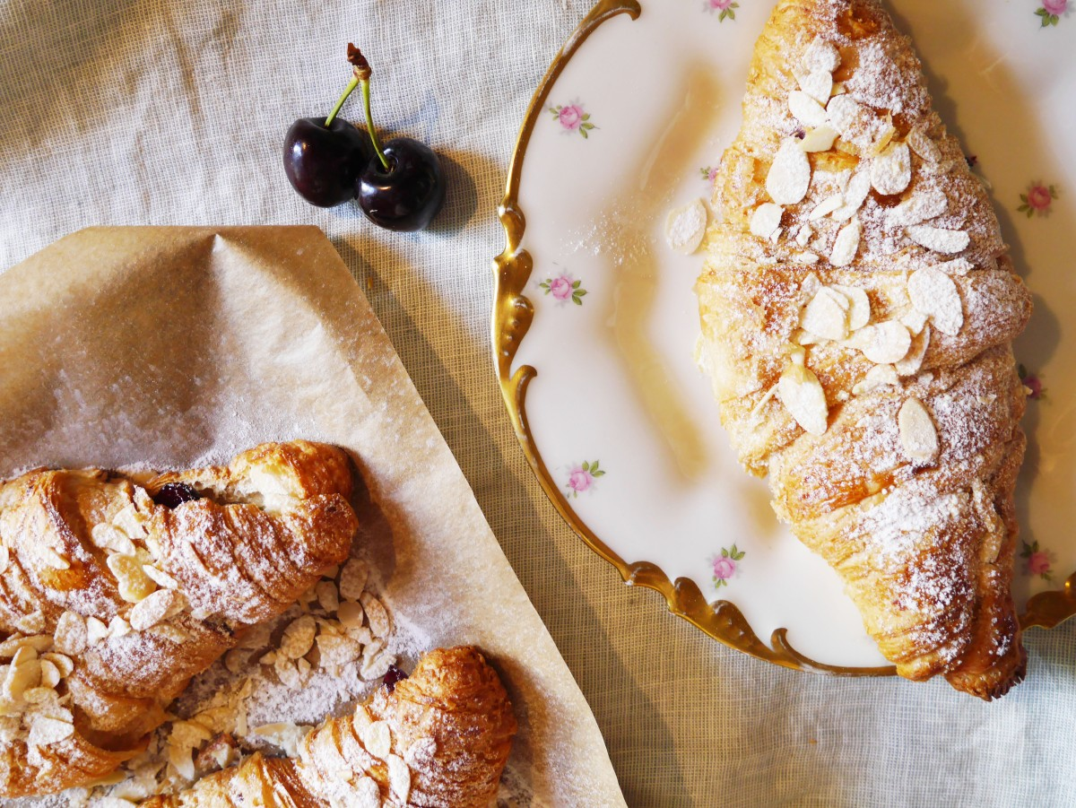 Cherry and Almond Croissants