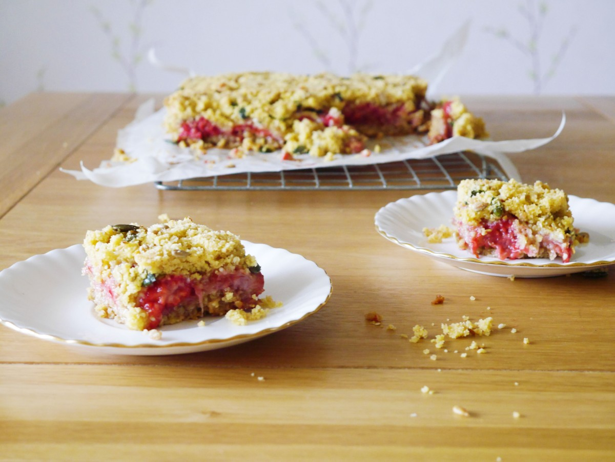Summer Berry Flapjacks with a Crumble Topping