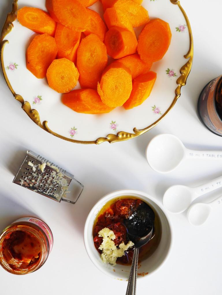 Harissa + Molasses Roasted Carrots