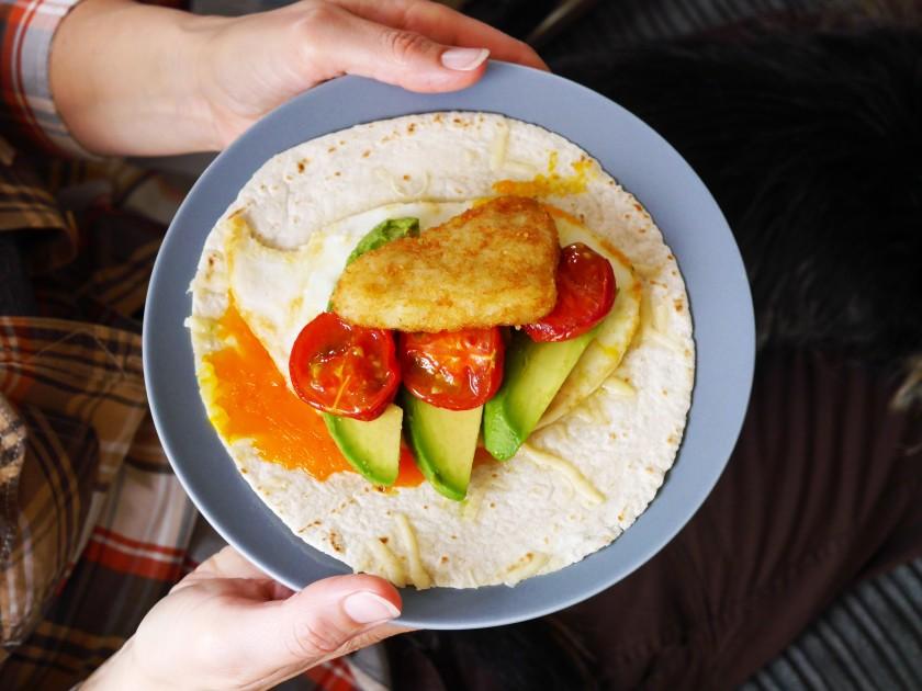 Vegetarian Breakfast Wrap