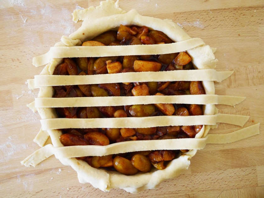 Greengage Pie Lattice Top