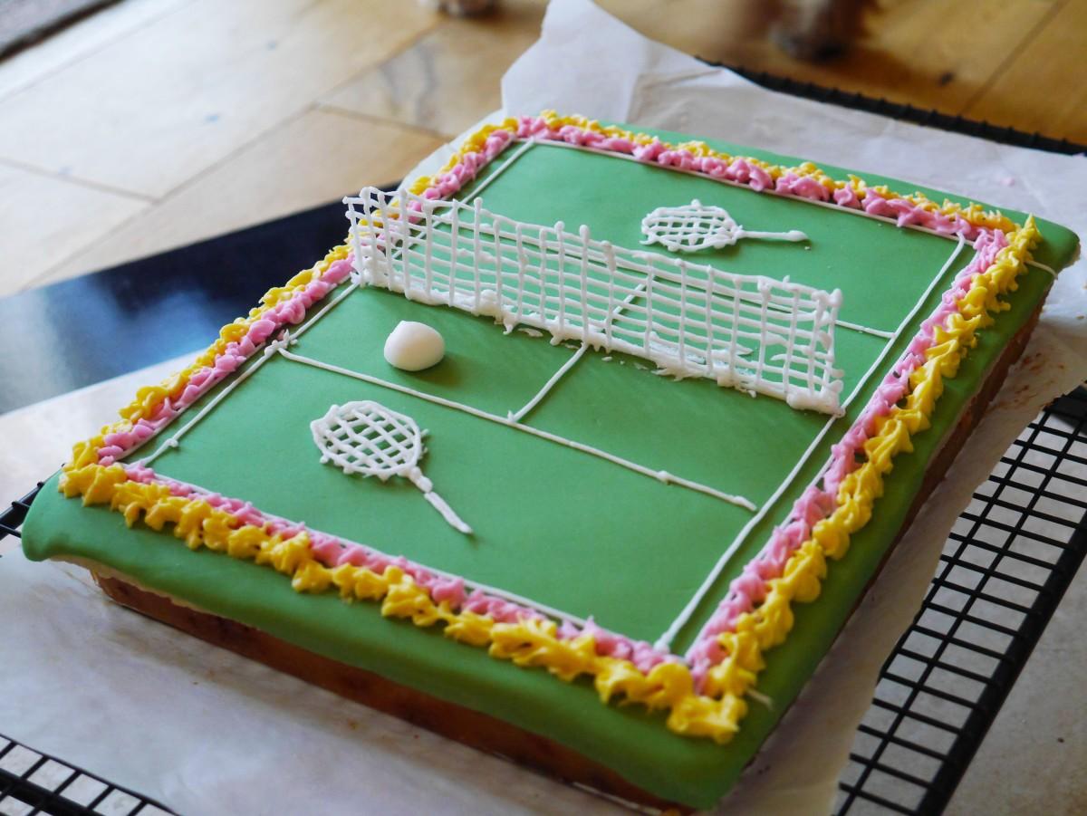 Great British Bake Off Tennis Cake