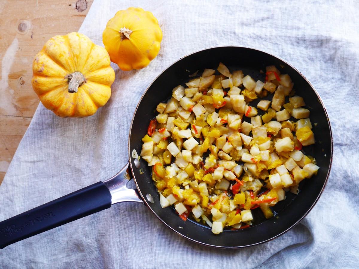 Celeriac and Pumpkin Mash