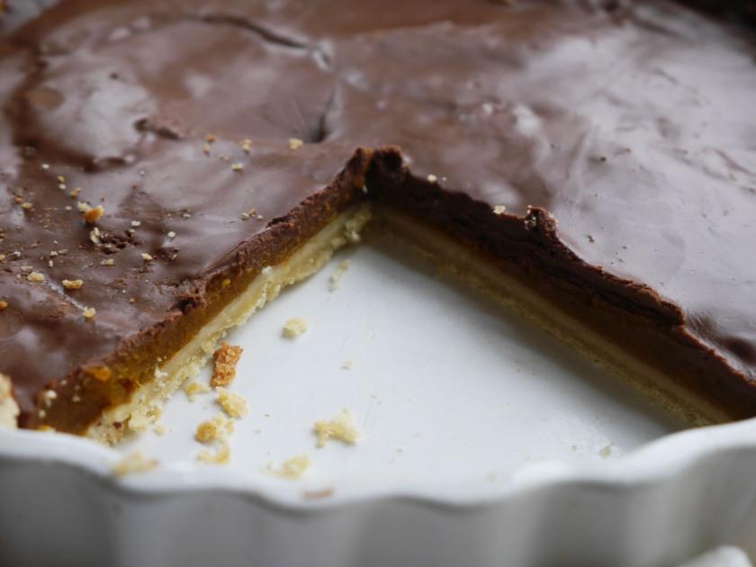 Pumpkin Chocolate Tart