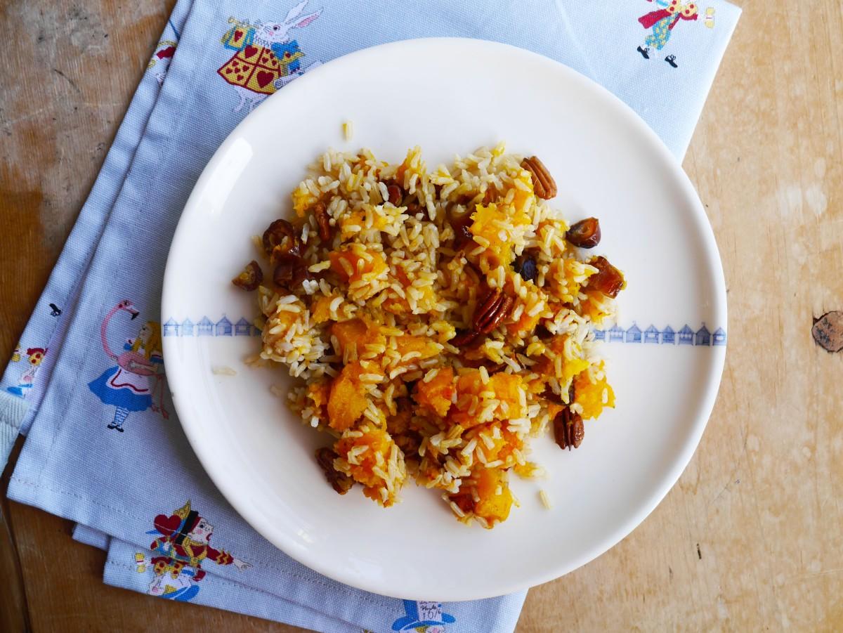 Pumpkin + Pecan Warm Rice Salad