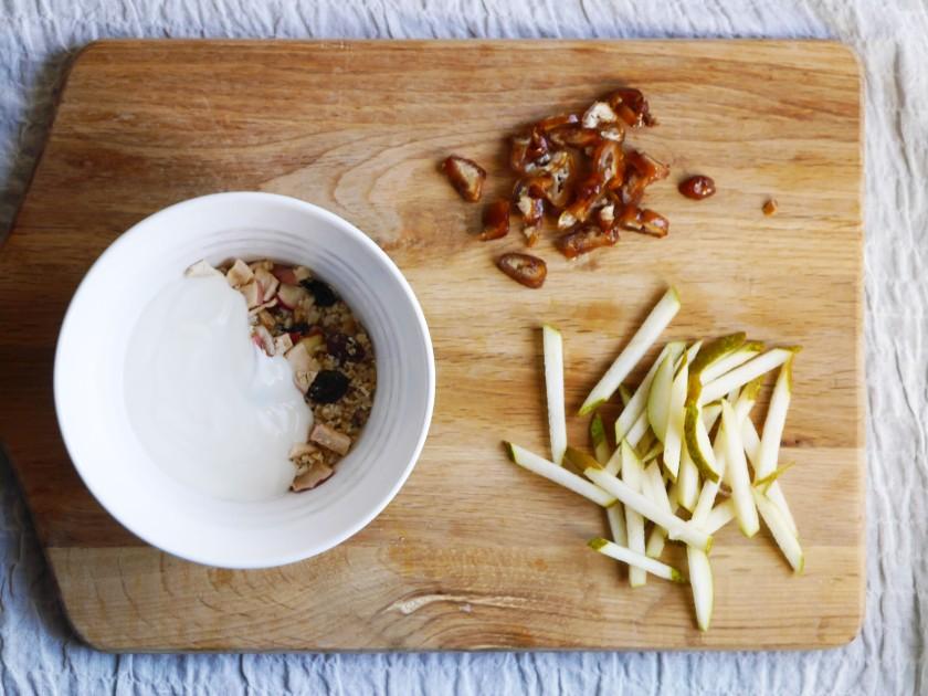 Pear and Date Bircher Meusli