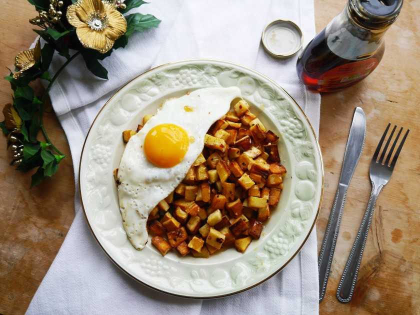 Chilli Parsnip Breakfast Fries with Maple Syrup