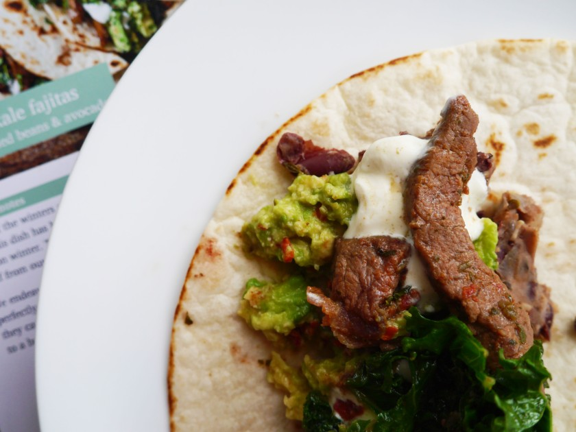 Beef and Kale Fajitas