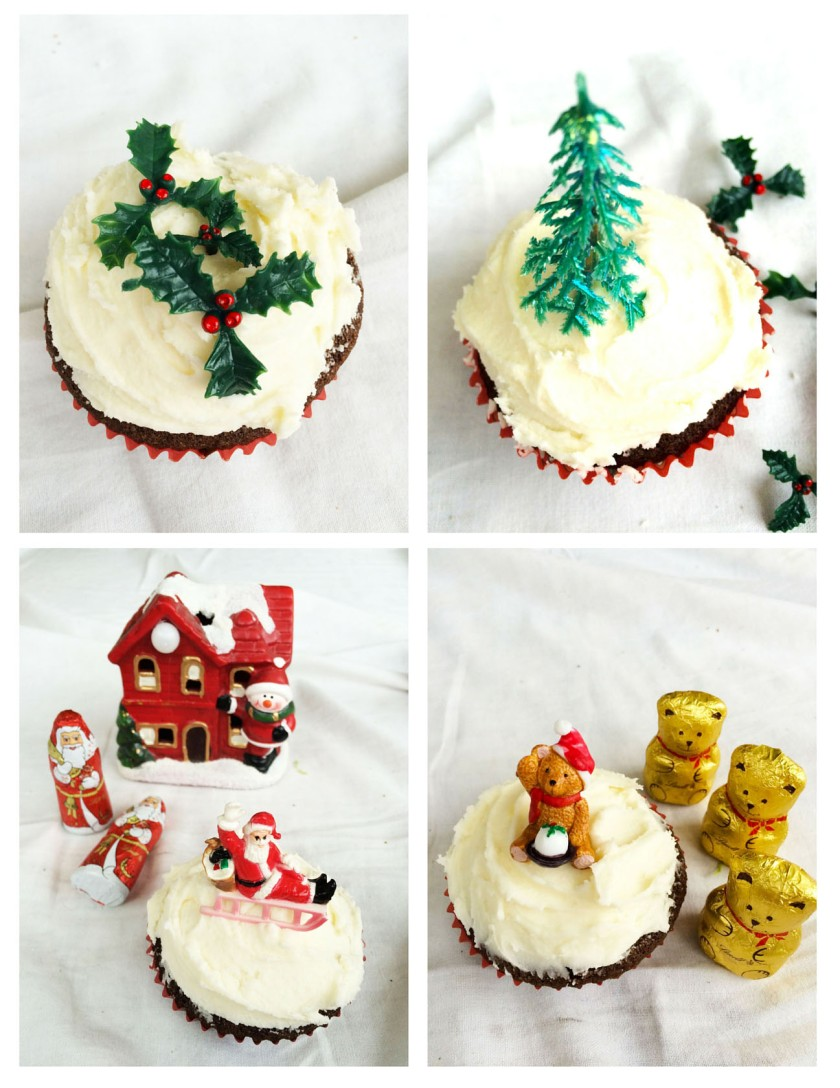 Christmas Cupcakes Decorated with Boswells of Oxford