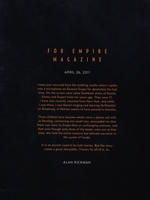 Alan Rickman Goodbye