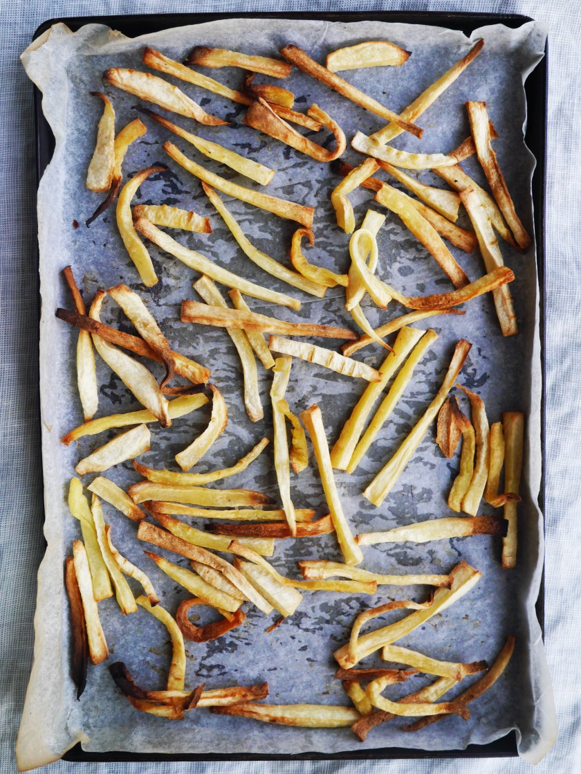 Vegan Skinny Parsnip Fries on Cate in the Kitchen