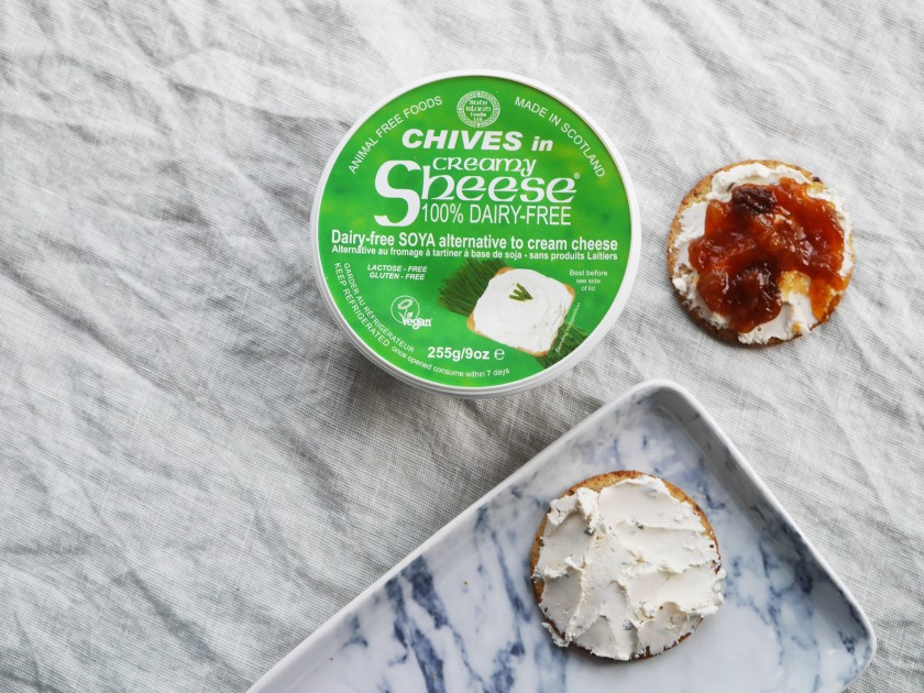 Vegan Cream Cheese (Sheese) Review on Cate in the Kitchen