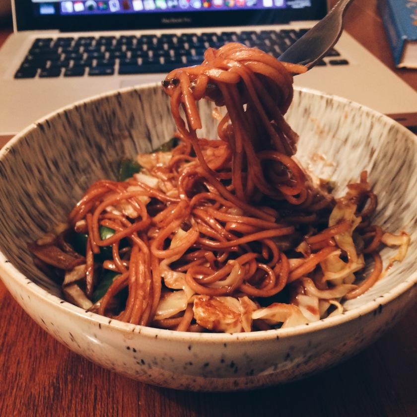 Noodle Stir Fry Using New Tracklements Plum Sauce