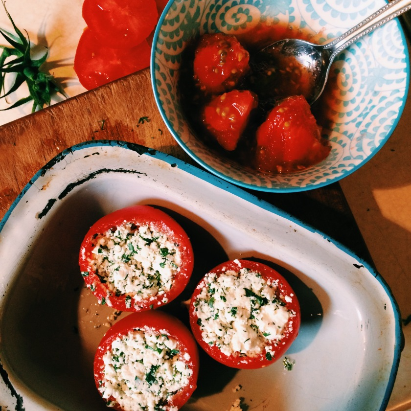 Feta Stuffed Tomatoes | Cooking From Mamushka
