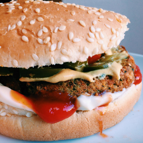 Vegetarian Breakfast Burger