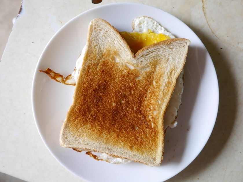 Live Below The Line Fried Egg Sandwich