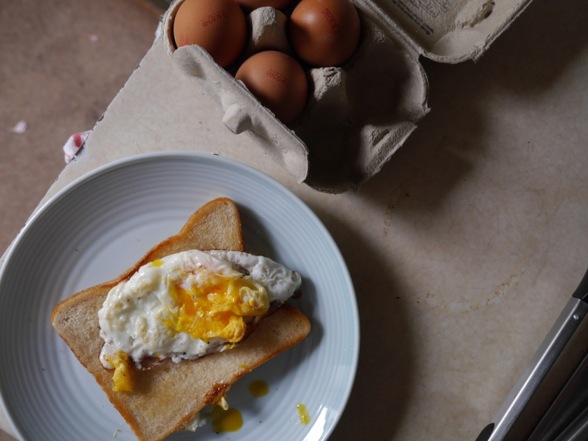 Live Below The Line Fried Egg and Fried Bread