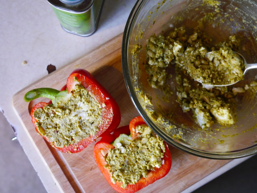 Pesto Stuffed Peppers