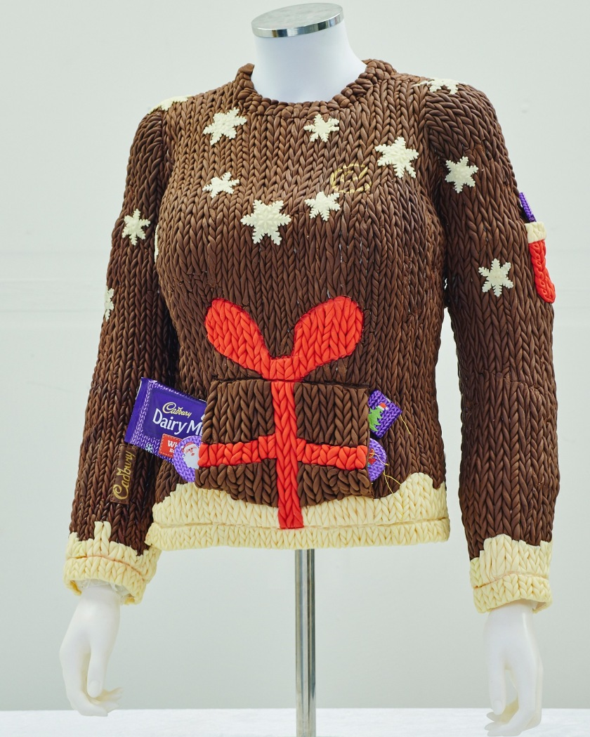 Christmas Jumper made from chocolate