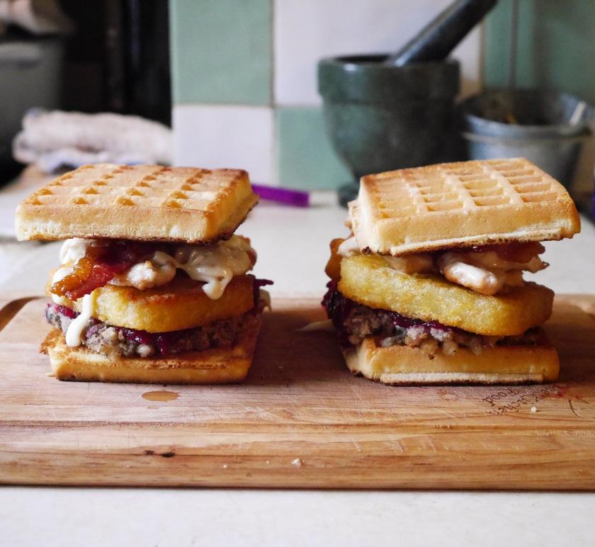 Waffle Christmas Sandwich