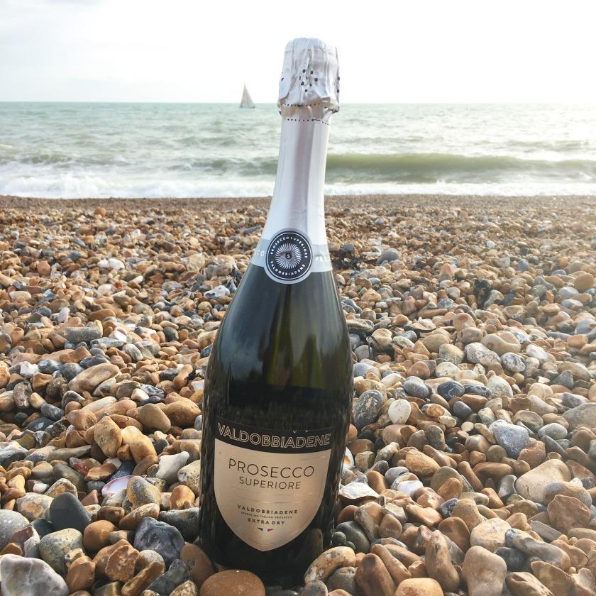 Prosecco on Brighton Beach