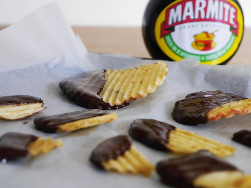 Marmite Dark Chocolate Dipped Crisps
