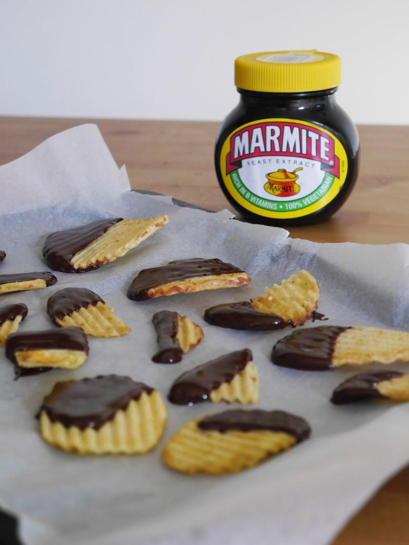 Dark Chocolate Marmite Crisps
