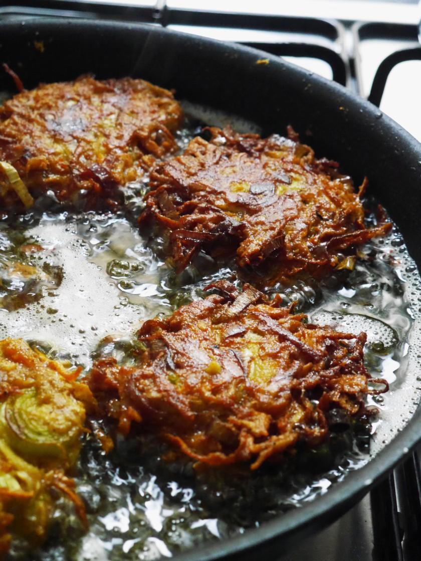 Vegan Carrot, Parsnip and Leek Bhajis