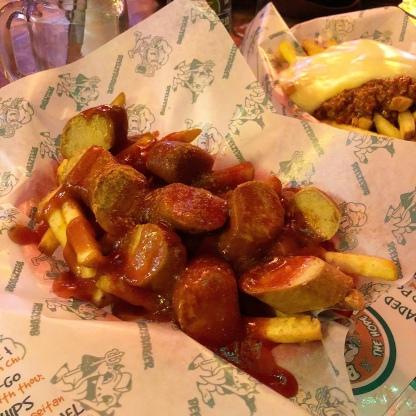 Vegan Currywurst at Beelzebab, Brighton