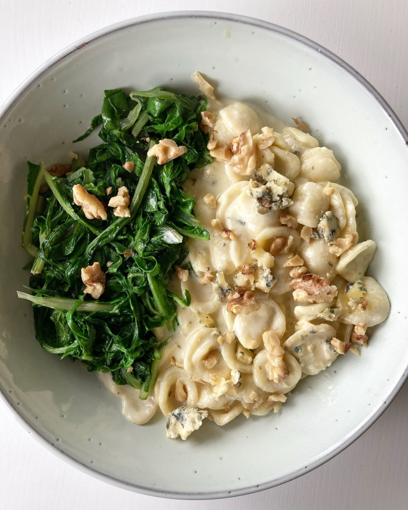 Blue Cheese Orecchiette with Toasted Walnuts